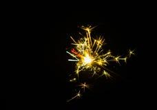 庆祝党闪烁发光物小的烟花 图库摄影