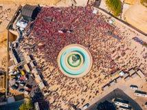 庆祝劳动节在瓦莱塔,马耳他 免版税库存图片