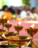 庆祝印地安人闪亮指示 免版税库存图片