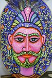 庆祝即将来临的孟加拉新年的一张大大小国王面孔 免版税库存照片