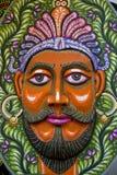 庆祝即将来临的孟加拉新年的一张大大小国王面孔 图库摄影