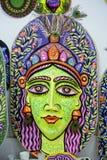庆祝即将来临的孟加拉新年的一张大大小女王/王后面孔 免版税库存图片