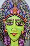 庆祝即将来临的孟加拉新年的一张大大小女王/王后面孔 库存照片