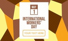 庆祝国际劳动节-传染媒介 向量例证
