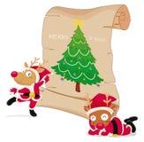 庆祝圣诞节的驯鹿 免版税库存图片