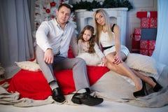 庆祝圣诞节系列愉快的家 库存照片