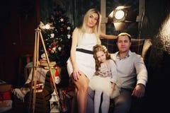 庆祝圣诞节系列愉快的家 免版税库存图片