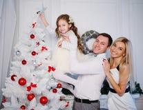 庆祝圣诞节系列愉快的家 免版税库存照片