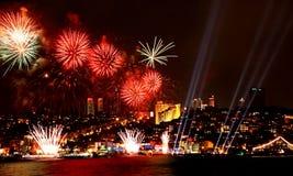 庆祝在伊斯坦布尔 免版税库存图片