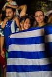庆祝在公民投票结果以后的希腊 库存照片