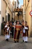 庆祝复活节赫雷斯游行西班牙 图库摄影