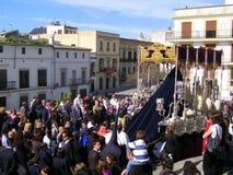庆祝复活节赫雷斯游行西班牙 库存照片