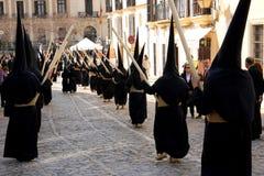 庆祝复活节赫雷斯游行西班牙 库存图片