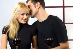 庆祝夫妇年轻人 免版税图库摄影