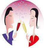 庆祝夫妇 免版税库存图片