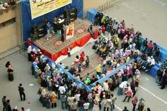 庆祝孤儿在大学在开罗在埃及在非洲 免版税图库摄影