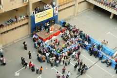 庆祝孤儿在大学在开罗在埃及在非洲 免版税库存照片