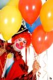 庆祝小丑 免版税库存照片