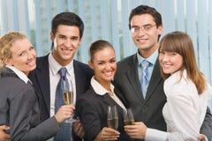 庆祝小组的商业 免版税库存图片