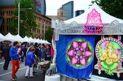 庆祝屠妖节节日的印地安人民在奥克兰,新的Zealan 免版税库存照片