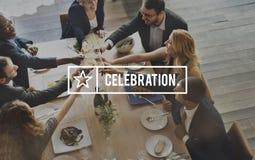 庆祝庆祝Priase党幸福周年概念 免版税库存照片