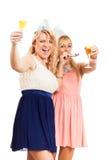 庆祝当事人的愉快的妇女 库存图片