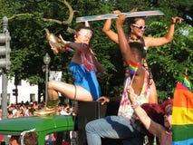 庆祝快乐女同性恋的价值 免版税库存图片