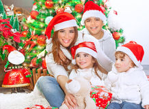 庆祝愉快圣诞节的系列 库存图片