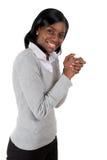 庆祝成功妇女的商业 图库摄影