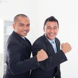 庆祝成功 免版税图库摄影