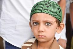 庆祝指示月的结束赖买丹月的Eid AlFitr的穆斯林 免版税库存图片