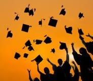 庆祝教育毕业学会Concep的学生成功 免版税库存图片