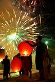 庆祝新年在泰国 免版税库存图片