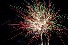 庆祝新年的明亮的烟花 库存图片