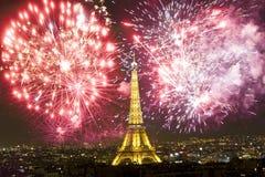 庆祝新年` s在巴黎 库存照片