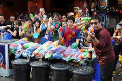 庆祝新的摆设酒宴者泰国年 库存图片
