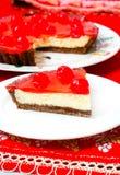 庆祝樱桃乳酪蛋糕点心 库存照片