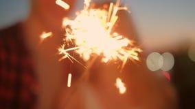 庆祝欢乐大气烟花闪烁发光物 股票录像