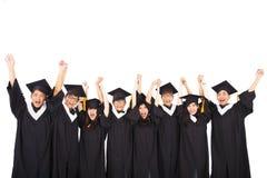 庆祝毕业的亚裔学生 图库摄影