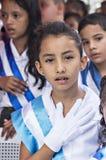 庆祝独立日的孩子在中美洲 图库摄影