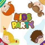 庆祝生日聚会的孩子 免版税库存图片