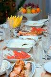 庆祝的正餐 免版税库存照片