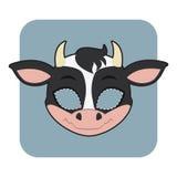 庆祝的母牛面具 库存照片