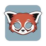 庆祝的红熊猫面具 免版税库存照片