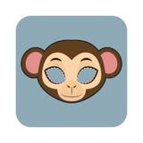 庆祝的猴子面具 免版税库存图片