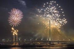 庆祝的致敬在里加 免版税库存图片