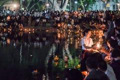 庆祝的Loy Kratong节日 免版税库存图片