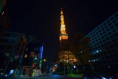 庆祝第55年的东京铁塔的在日本 库存照片