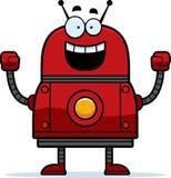 庆祝红色机器人 免版税库存照片