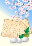 庆祝蛋犹太未发酵的面包逾越节 皇族释放例证